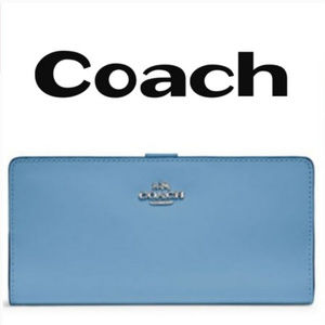 Coach Signature Embossed Leather Wallet NWT!